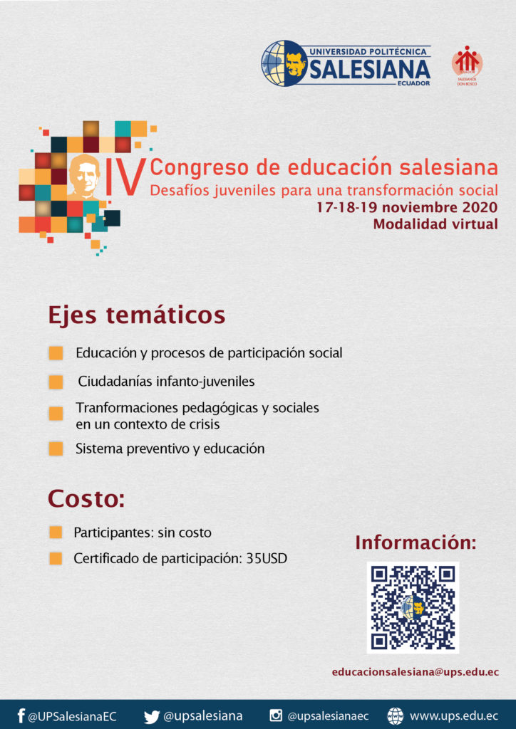 IV Congreso de Educación Salesiana