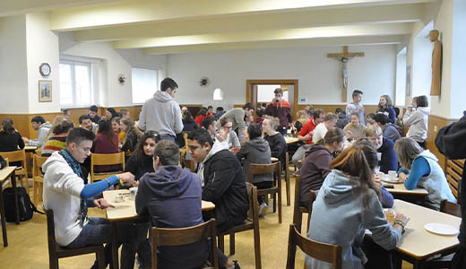 Dining Hall of the College Hostel, Youth Center, Czech Republic