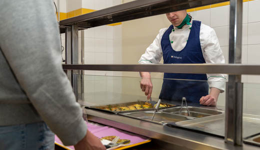 Food Services for students at College hostel Collegio Paolo VI