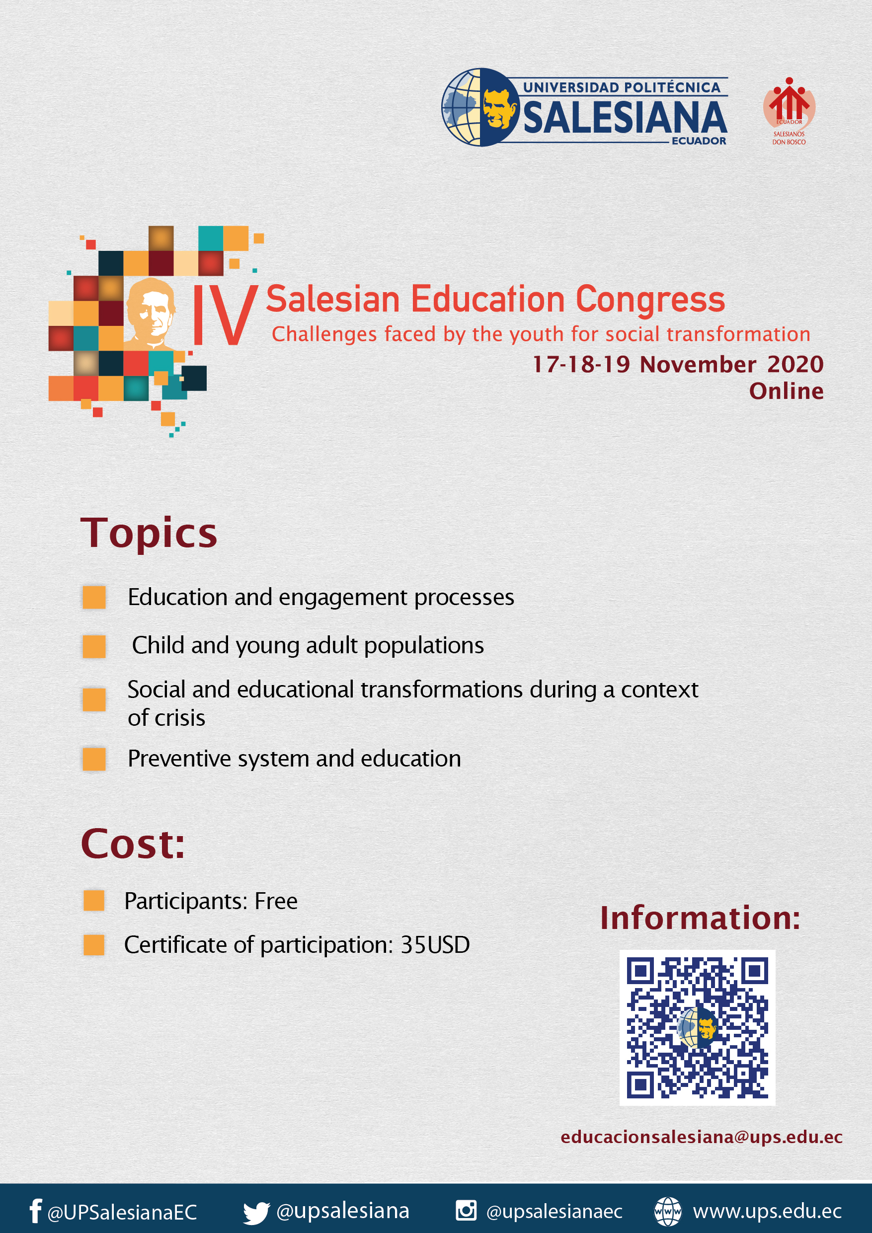 IV Salesian Education Congress hosted by the Salesian Polythecnic University of Ecuador