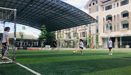 Sports and recreation at Students of Don Bosco college hostel (SOD), Vietnam