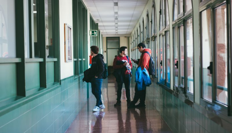 Students of Escola Universitària Salesiana de Sarrià (EUSS) return to the facilities for the new academic semester
