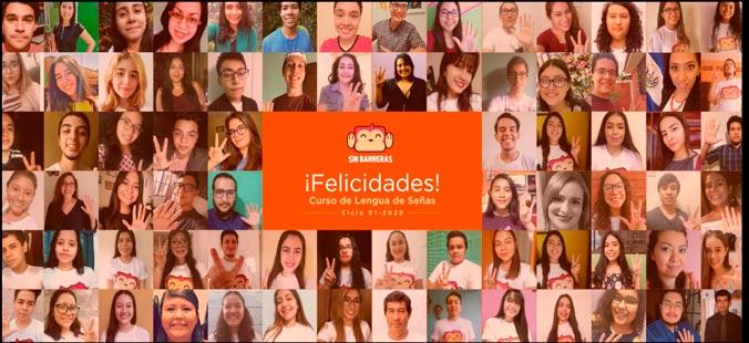 Curso de Lengua de Señas de la UDB El Salvador concluye su formación en modalidad virtual