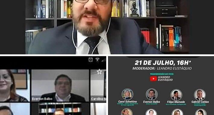 """participants of the discussion """"O Ensino Jurídico Pós Pandemia"""", promovida no dia 21 de julho pelo advogado e professor de Direito, Leandro Eustáquio, e pela editora D'Plácido"""