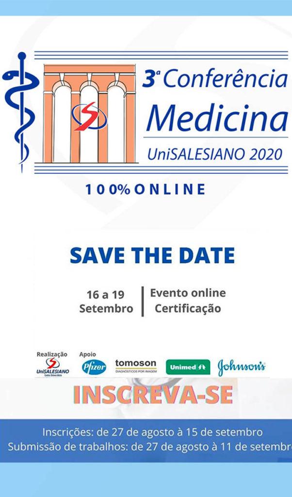 3ª Conferência de Medicina será online, com certificação e participação de médicos renomados