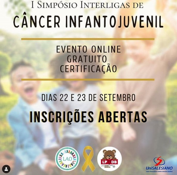 Brazil - Unisalesiano holds 1st Children's and young adult Cancer online symposium