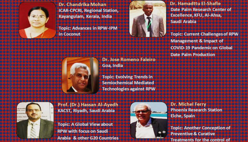 International webinar on Advances in RPW Research and Management, Europe and Asia