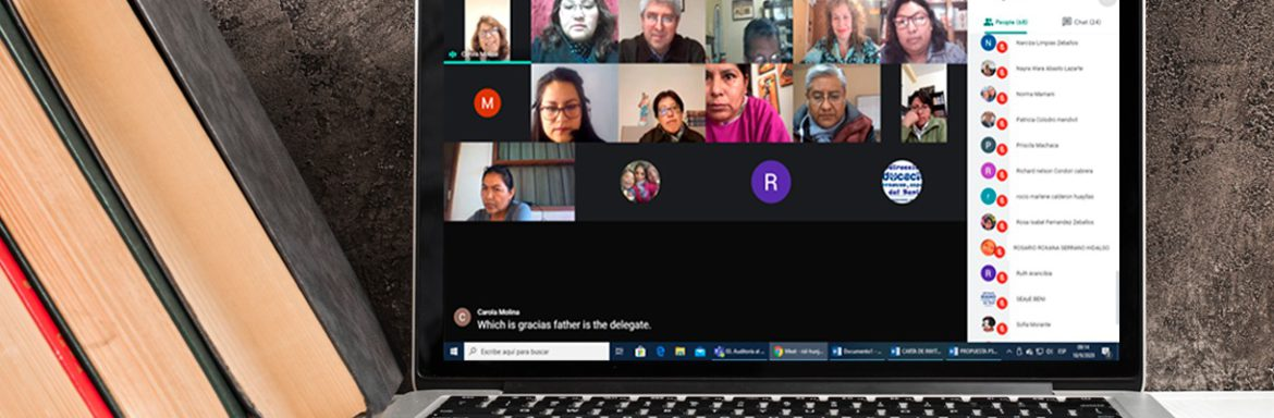 Virtual presentation of the agreement between the Universidad Salesiana de BOlivia and the national department of education