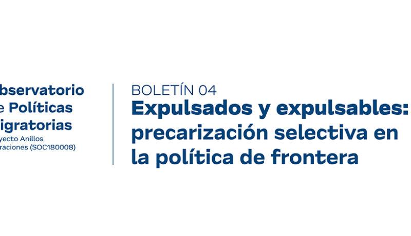 Boletín N°4 del Observatorio de Políticas Migratorias