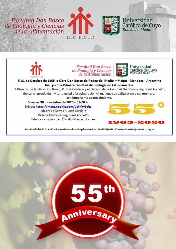 Facultad Don Bosco de Enología y Ciencias de la Alimentación cumple 55 años