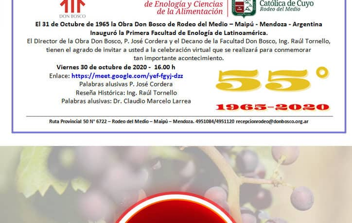 55 años de la Facultad Don Bosco de Enología, Rodeo del Medio, Mendoza, Argentina