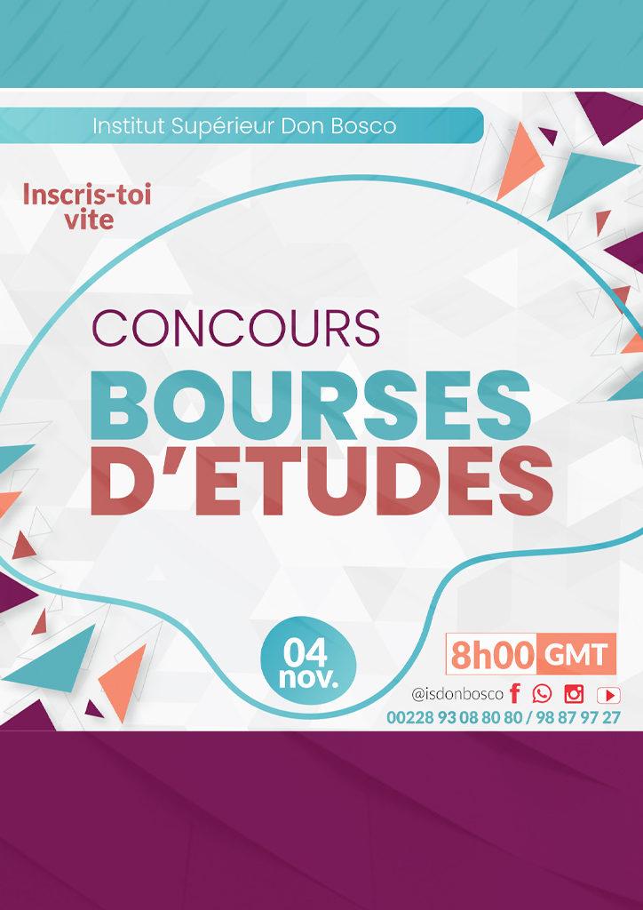 Concours de Bourse, Institut Supérieur Don Bosco