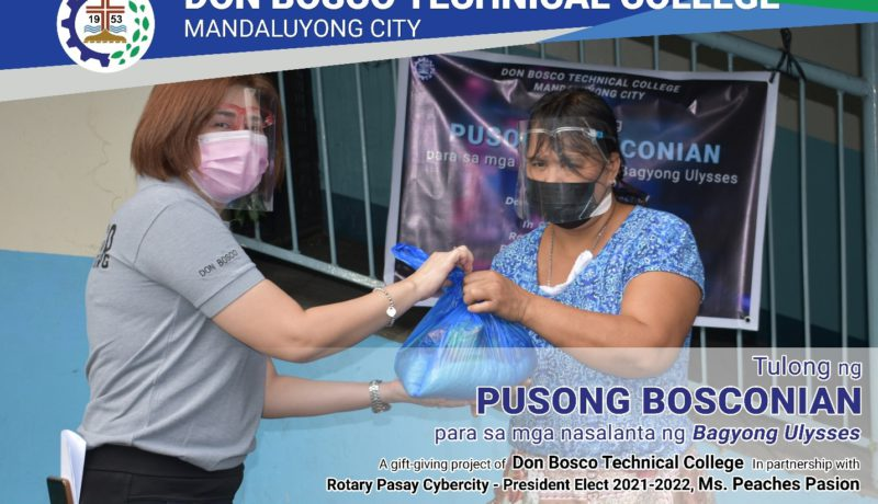 Don Bosco Technical College Mandaluyong Assists Victims of Typhoon Ulysses, Philippines