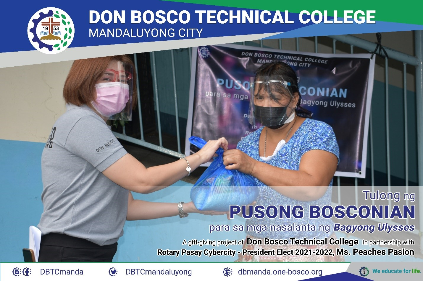 Don Bosco Technical College Mandaluyong Assists Victims of Typhoon Ulysses, Mandaluyong, Philippines