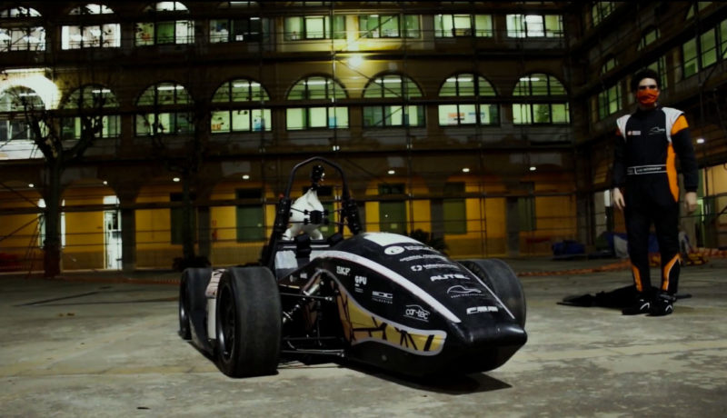 The EUSS MotorSport team from the Escola Universitària Salesiana de Sarrià presents the car for the 2020-2021 season: the new EM-03, Barcelona, Spain