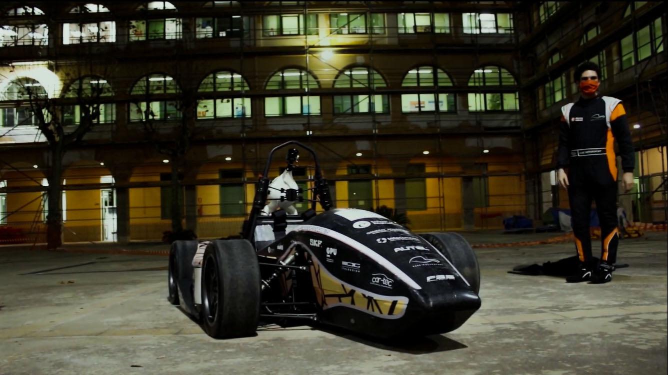 The EUSS MotorSport team from the Escola Universitària Salesiana de Sarrià presents the car for the 2020-2021 season: the new EM-03, Barcelona, Spain