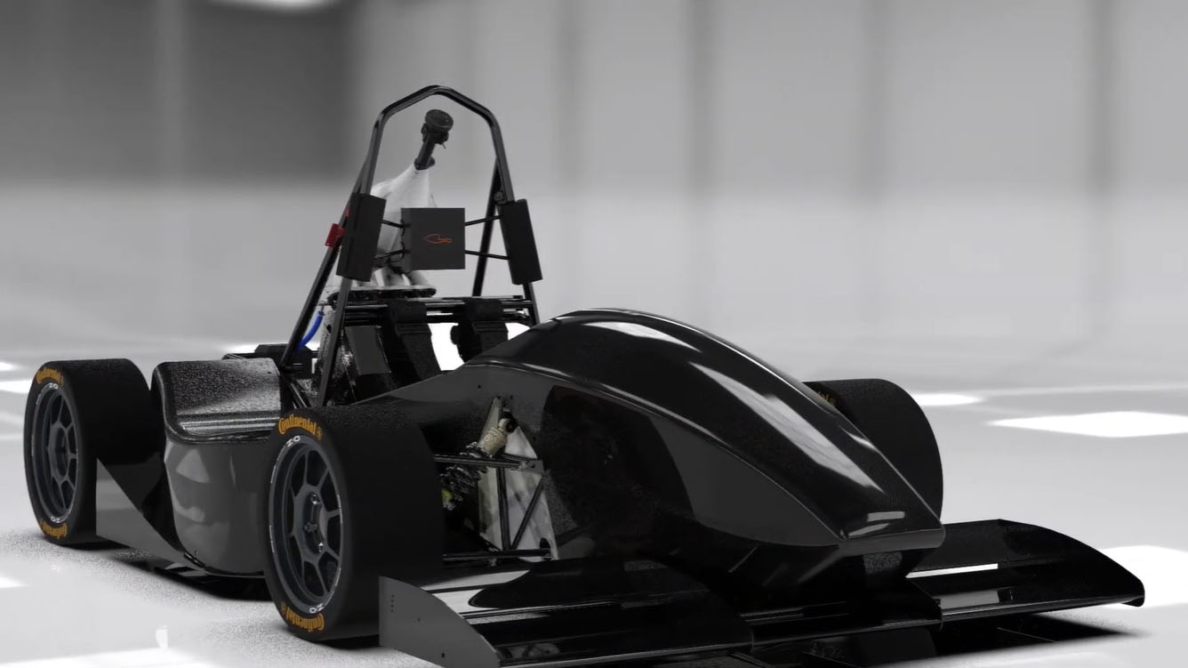 the new model EM-03 race car from EUSS MotorSport, Barcelona, Spain