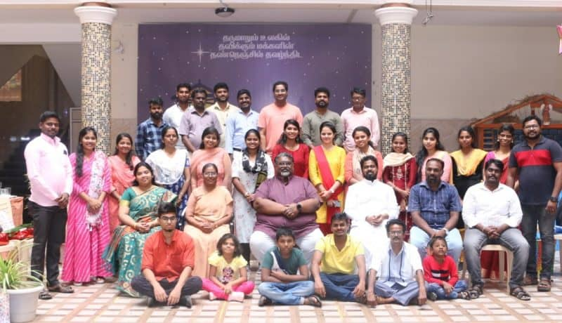 The Don Bosco College, Chennai management and staff members gathered to celebrate CHRISTMAS 2020, India