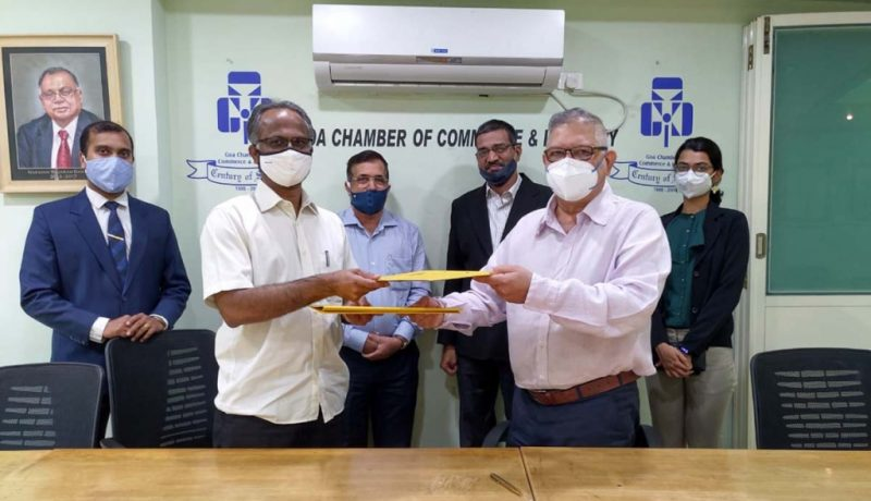 "Collaboration between ""Don Bosco College"" of Panjim and Goa's Chamber of Commerce & Industry, India"