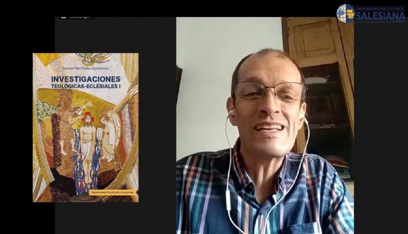 Conrado Giraldo Zuluaga catedrático de la Universidad Pontificia Bolivariana de Medellín en la presentación del libro