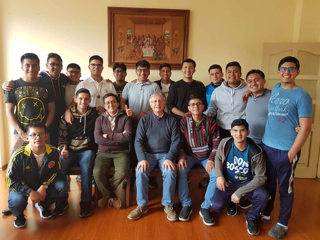 P. Marcelo Farfán, Coordinador General de las Instituciones Salesianas de Educación Superior visitó la comunidad del Posnoviciado salesiano