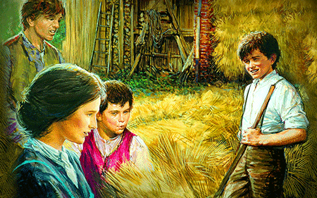 Young Don Bosco and Mother, Margherita Occhiena