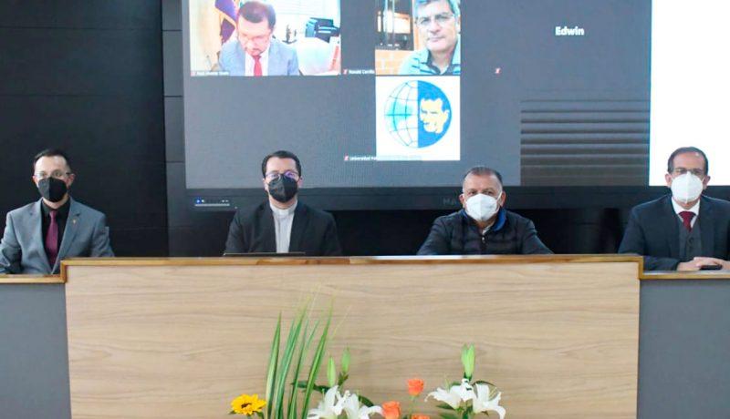 Fernando Pesántez, P. Juan Cárdenas, P. Francisco Sánchez, Fernando Moscoso