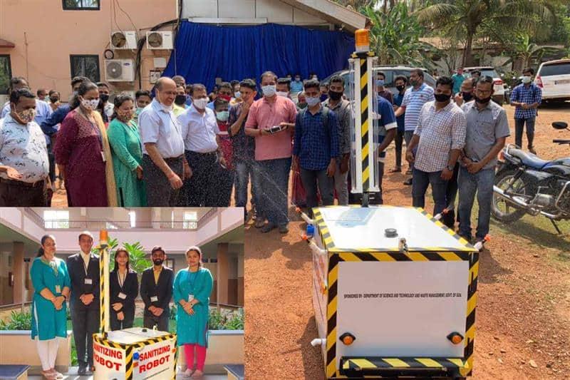 India - Don Bosco College Engineering Students Develop Sanitizing Robot