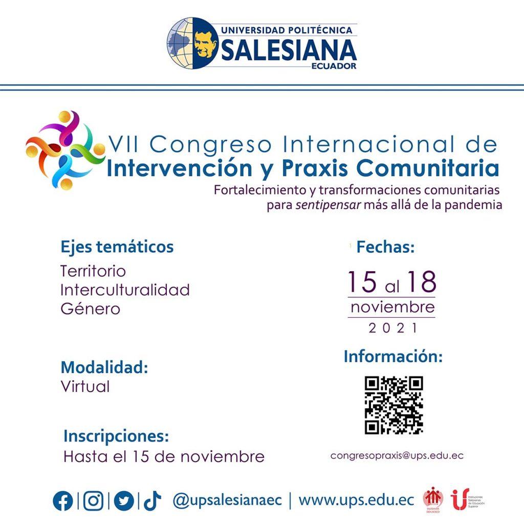 VII Congreso Internacional de Intervención y Praxis Comunitaria
