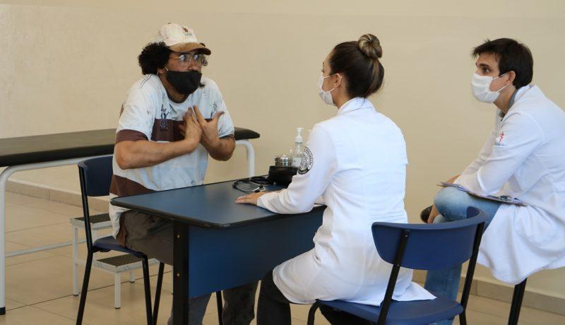 """O Curso de Medicina do UniSALESIANO promoveu uma atividade intitulada """"Laboratório com Atores"""", para alunos da 3ª turma, Brasil"""