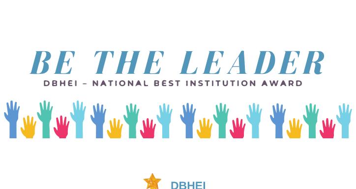 Be the leader - Don Bosco Higher Education (DBHEI) - National Best Institution Award