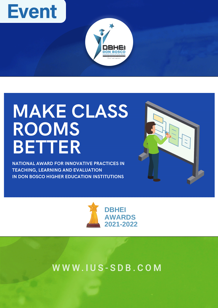 Make Classrooms Better, National award for innovative practices in teaching, learning, and evaluation in Don Bosco Higher Education Institutions, Don Bosco Higher Education India (DBHEI)