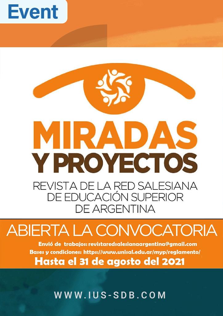"""Convocatoria abierta para revista académica """"Miradas y Proyectos"""""""
