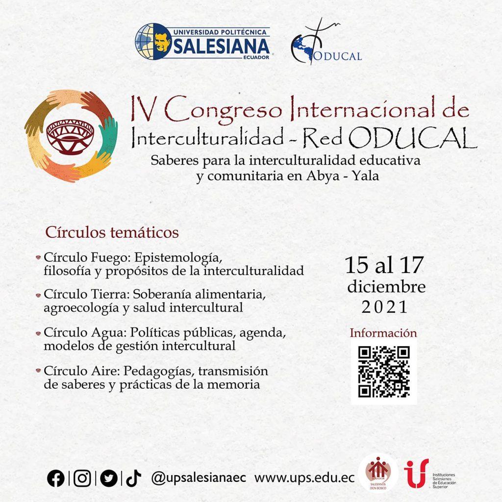 IV Congreso Internacional de Interculturalidad - Red ODUCAL