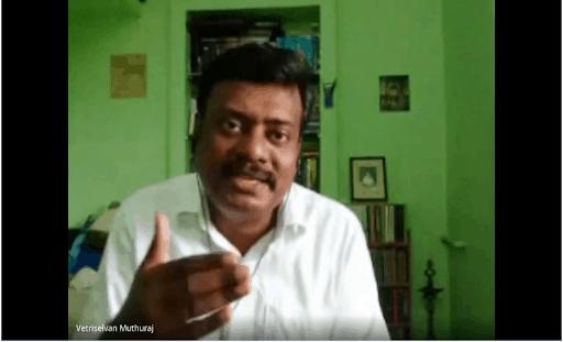 Vetri Selvan, founding member of the environmental organization called Poovulagin Nanbargal in India