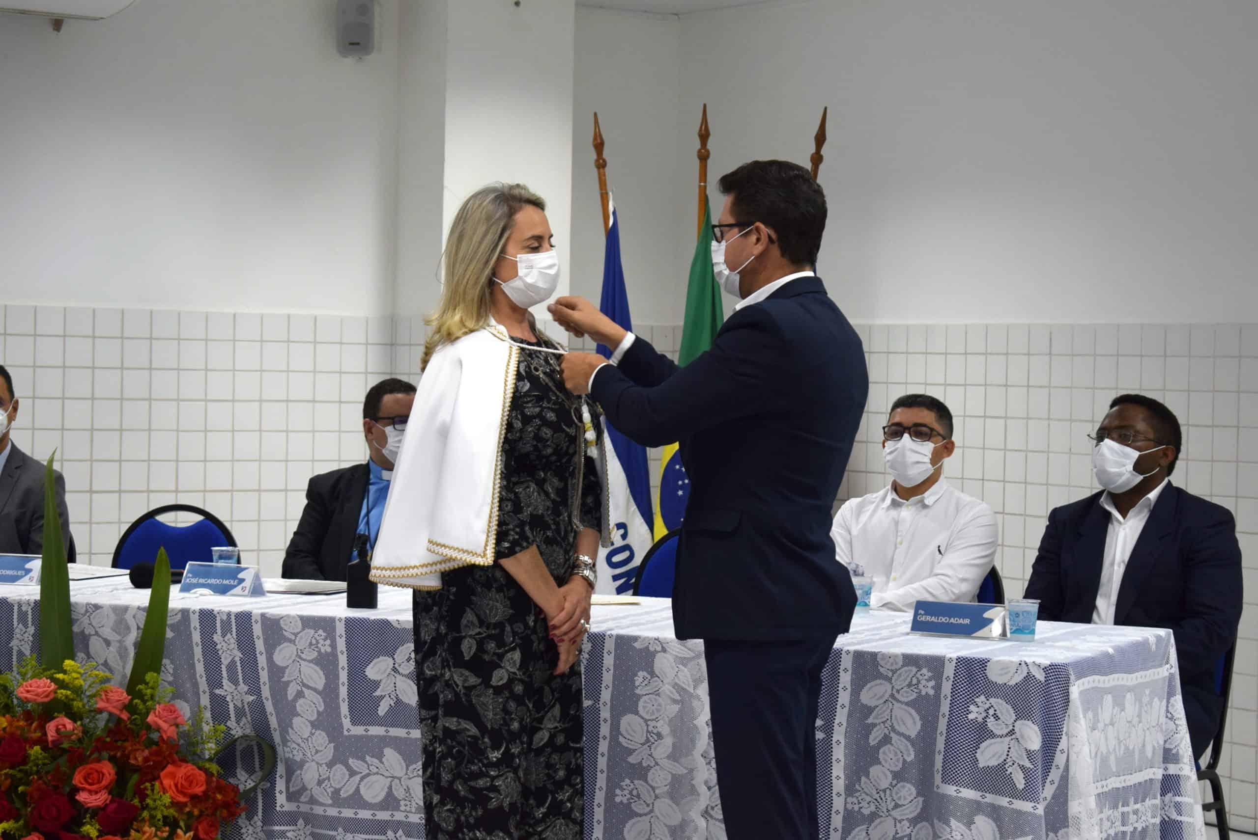 dia 9 de setembro, tomou posse a nova reitora do Centro Universitário Salesiano- UniSales, profª Carmen Luiza da Silva