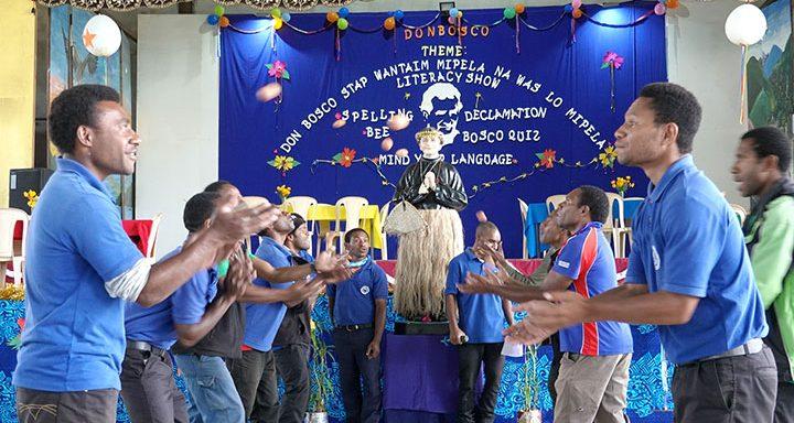 The Academic community of Don Bosco Simbu Technical College celebrates annual Don Bosco Foundation Week, Papua New Guinea.
